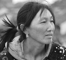 the woman sit on the near 2000 year old stone bridge by heng zhu