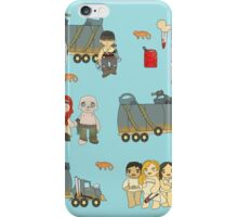 Across the Wasteland (in Sky Blue) iPhone Case/Skin