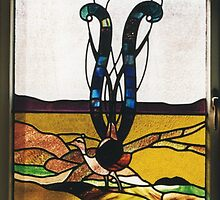 Lyrebird Stained Glass by Jeffrey Hamilton