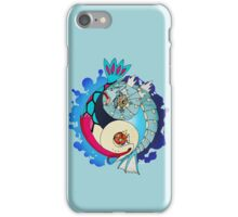 Paint-Splattered Aquatic Yin Yang - Gyarados & Milotic iPhone Case/Skin
