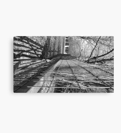 Fence in Black & White Canvas Print