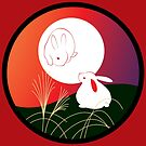 Hanafuda - Pampas-Grass - August Bright by Tracey Quick