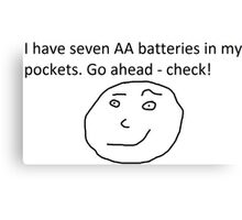7 AA Batteries Canvas Print