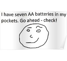 7 AA Batteries Poster