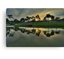 Reflections at dusk Canvas Print