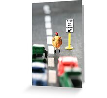 Although Stubby had completed the requisite traffic control training, his career was short-lived Greeting Card
