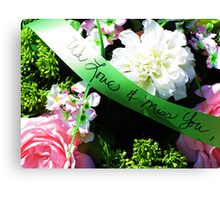 Love and Remembrance Canvas Print