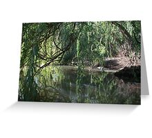 beneath the willows Greeting Card