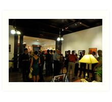 Exhibit Crowd,  Art Print