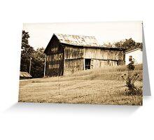 An old barn near Lynn, Indiana Greeting Card