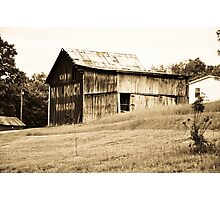 An old barn near Lynn, Indiana Photographic Print