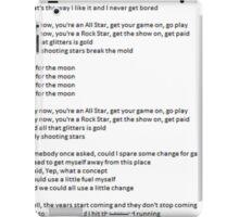 All Star - Lyrics iPad Case/Skin