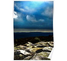 Hill top Clouds Poster