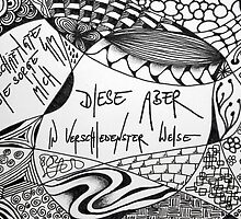 Kafka Zentangle - Letter To His Father / Brief An Den Vater by face2phase
