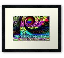 Green Eye or Blue Eye Framed Print