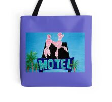The Pink Poodle Motel Sign [oil ,acrylic,texture paint, painting] Tote Bag