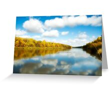 View on the autumn river Greeting Card