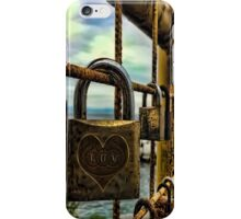 LOVE PADLOCKS(LOVE LOCKS) ON GATE(A SYMBOL OF LOVE AND COMMITMENT)..--PILLOW,TOTE BAG,CELL PHONE COVERS,PICTURE,ECT. iPhone Case/Skin