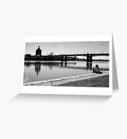 Lonely woman Greeting Card
