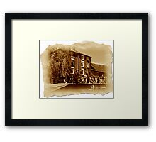 The Old Mill Parchment Framed Print