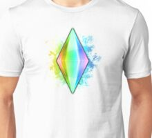 Rainbow Plumbbob Grunge Unisex T-Shirt