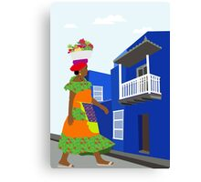 Way to the market Canvas Print