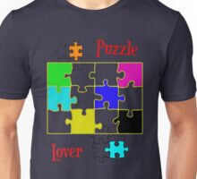 Puzzle Lover (red) Unisex T-Shirt