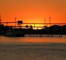 harbour sunset 2 by tara kim  andrews