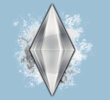 Silver Plumbbob Grunge by Tracey Quick