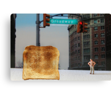 Kevin finally locates the Toast of Broadway; it wasn't exactly what he expected. Canvas Print