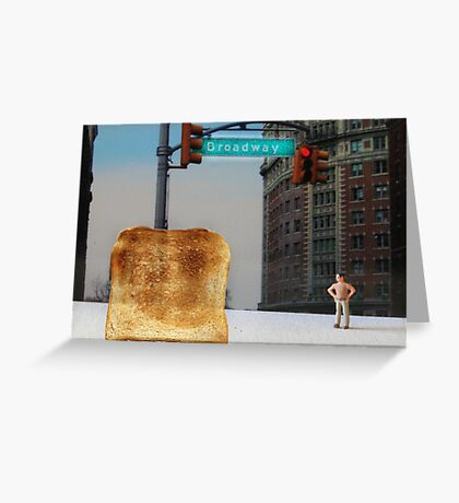 Kevin finally locates the Toast of Broadway; it wasn't exactly what he expected. Greeting Card