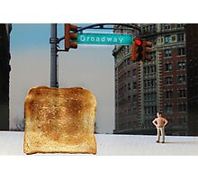 Kevin finally locates the Toast of Broadway; it wasn't exactly what he expected. Photographic Print