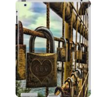 LOVE PADLOCKS(LOVE LOCKS) ON GATE(A SYMBOL OF LOVE AND COMMITMENT)..--PILLOW,TOTE BAG,CELL PHONE COVERS,PICTURE,ECT. iPad Case/Skin