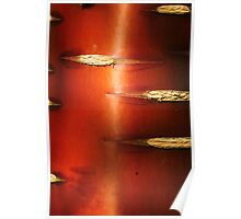Shiny Chinese Red Birch Poster