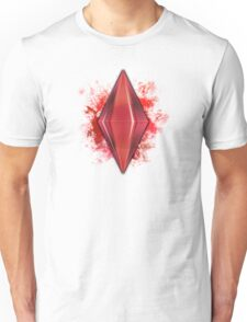 Red Plumbbob Grunge T-Shirt