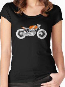 Café Racer – Reverse Women's Fitted Scoop T-Shirt