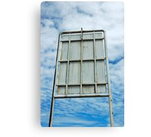 construction sign Canvas Print