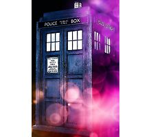 Public Police Box - Dr Who Photographic Print