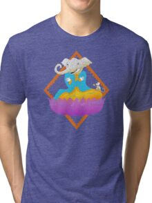 Ganesh on Lotus with Mouse Tri-blend T-Shirt