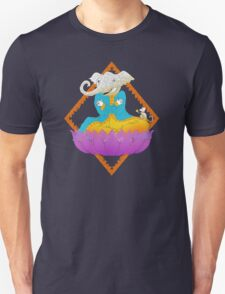 Ganesh on Lotus with Mouse T-Shirt