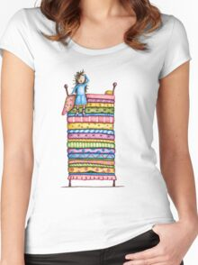 Princess and the Pea Women's Fitted Scoop T-Shirt