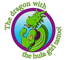 The dragon with the hula girl tattoo! Photographic Print
