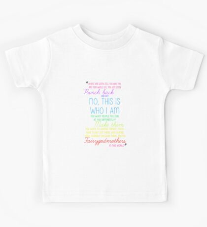 Once Upon a Time - Emma Swan Quote Rainbow Kids Tee