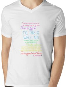 Once Upon a Time - Emma Swan Quote Rainbow Mens V-Neck T-Shirt