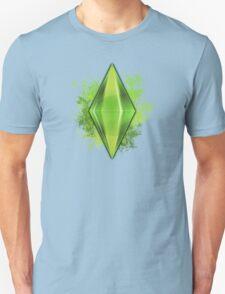 Green Plumbbob Grunge Unisex T-Shirt