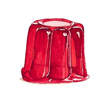 Jelly on a plate by Suzanne Houghton
