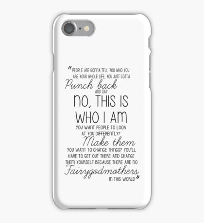 Once Upon a Time - Emma Swan Quote B&W iPhone Case/Skin