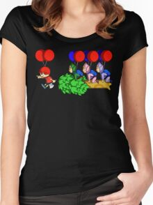 Balloon Fight: Villager Style Women's Fitted Scoop T-Shirt