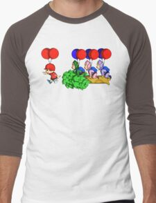 Balloon Fight: Villager Style Men's Baseball ¾ T-Shirt