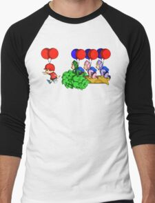Balloon Fight: Villager Style Men's Baseball ¾ T-Shirt